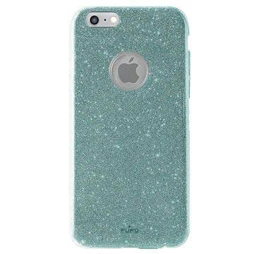 iPhone 6 / 6S Puro Glitter Shine Cover - Lyseblå