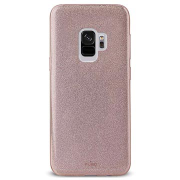 Puro Shine Glitter Samsung Galaxy S9 Silikon Cover - Rødguld