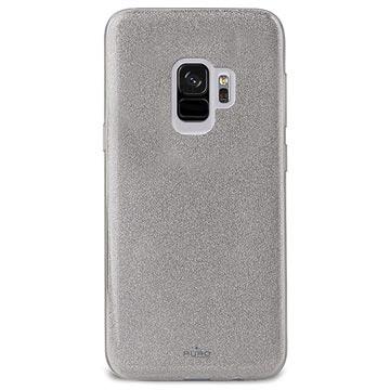 Puro Shine Glitter Samsung Galaxy S9 Silikon Cover - Sølv