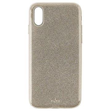 Puro Shine Glitter iPhone XR TPU Cover - Guld