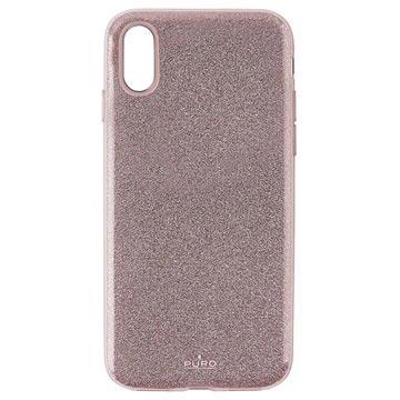 Puro Shine Glitter iPhone XR TPU Cover - Rødguld
