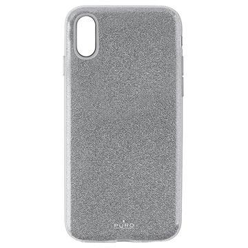 Puro Shine Glitter iPhone XR TPU Cover - Sølv