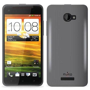 HTC Butterfly Puro Silikone Cover - Sort