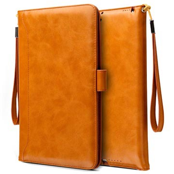 iPad Mini 3, iPad Mini 4 Smart Flip Cover med Håndrem - Brun