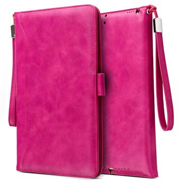 iPad Mini 3, iPad Mini 4 Smart Flip Cover med Håndrem - Hot Pink