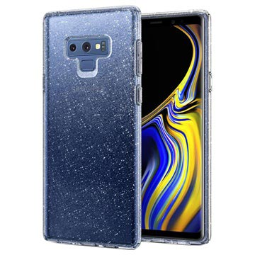 Spigen Liquid Crystal Glitter Samsung Galaxy Note9 Cover - Gennemsigti