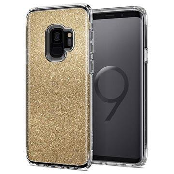 Spigen Slim Armor Crystal Glitter Samsung Galaxy S9 Cover - Guld