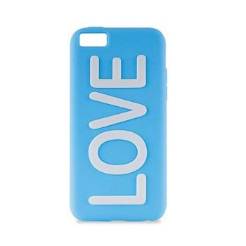 iPhone 5C Puro Love Silikone Cover - Blå