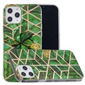 Marble Pattern Electroplated IMD iPhone 12 Pro Max TPU Cover