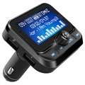 2-i-1 Billader & Bluetooth FM Transmitter BC32 - Sort