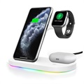 3-i-1 Opladningsstativ HJZJ001 - iPhone, Apple Watch, AirPods - Sort