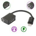 4smarts SoundSplit Lightning / 3.5mm Audio Adapter - Sort