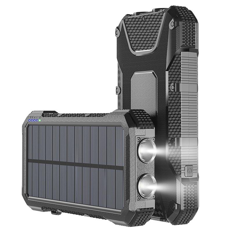 4smarts TitanPack Slim Solcelle Oplader & Powerbank 20000mAh Sort