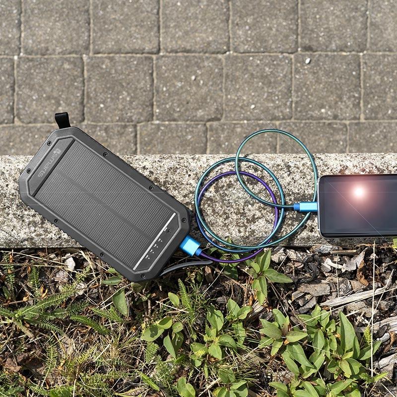 4smarts TitanPack Solcelle Oplader & Trådløse Power Bank 20000mAh Sort