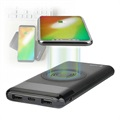 4smarts VoltHub Induktiv Qi Power Bank - 10000mAh - Sort
