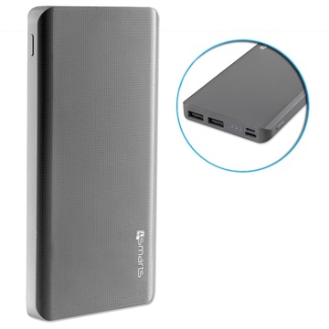 4smarts VoltHub Lite Power Bank - 10000mAh - 2 x USB - Grå
