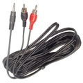 AUX-adapter - 2 x RCA/3,5mm Stereo Jack - 3m