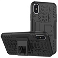Anti-Slip iPhone X / iPhone XS Hybrid Cover - Sort