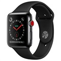 Apple Watch Series 3 LTE MQM02ZD/A (Open Box - Fantastisk stand) - Space Grå/Sort