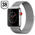 Apple Watch Series 3 LTE MR1N2ZD/A - Rustfrit Stål, Milanorem, 38mm, 16GB - Seashell/Sølv