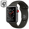 Apple Watch Series 3 LTE MR302ZD/A - Aluminium, Sportsrem, 42mm, 16GB - Space Grå/Grå