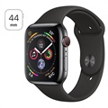 Apple Watch Series 4 LTE MTX22FD/A - Rustfrit Stål, Sportsrem, 44mm, 16GB - Space Sort