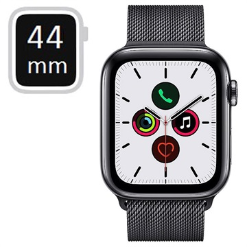 Apple Watch Series 5 LTE MWWL2FD/A - Rustfrit Stål, Milanorem, 44mm