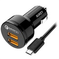 Aukey CC-T8 Qualcomm Quick Charge 3.0 Billader - Dobbelt USB