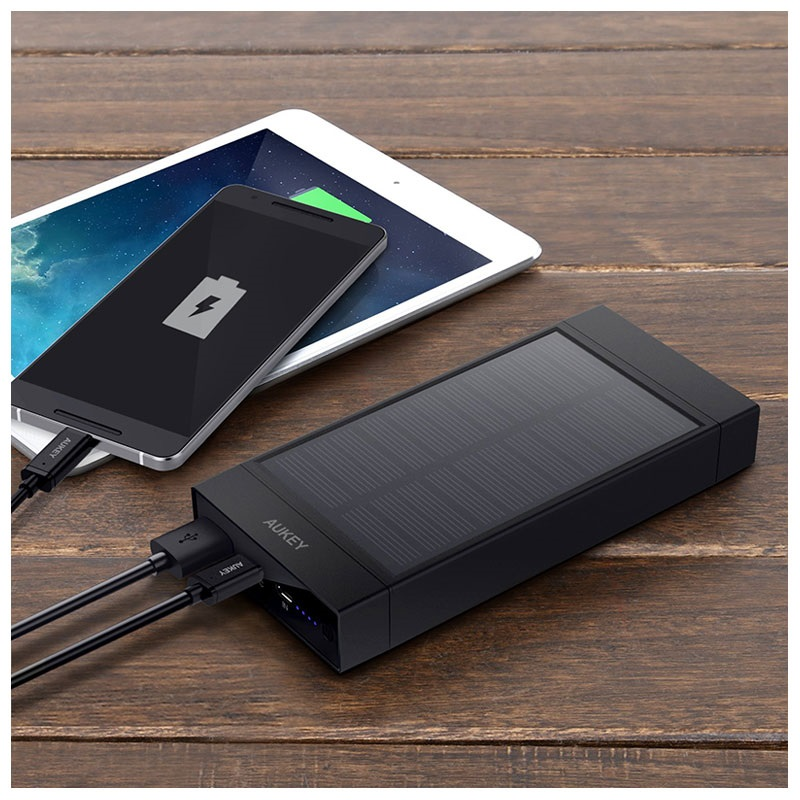 Aukey PB-P23 Solcelle Oplader - 16000mAh