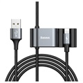 Baseus Special Data USB / Lightning Kabel med USB-hub CALHZ-01 - Sort