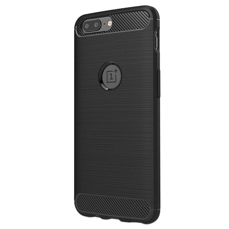 finest selection 7fb6f 72376 OnePlus 5 Børstet TPU Cover - Karbonfiber