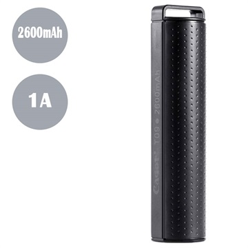 Cager T09 Transportabel Mini Power Bank - 2600mAh - Sort