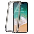Celly Armor iPhone X / iPhone XS Hybrid Cover - Sort / Gennemsigtig