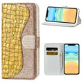 Croco Bling Series iPhone 12 mini Etui med Pung