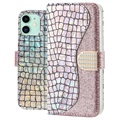 Croco Bling iPhone 11 Etui med Pung