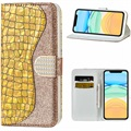 Croco Bling iPhone 12/12 Pro Etui med Pung