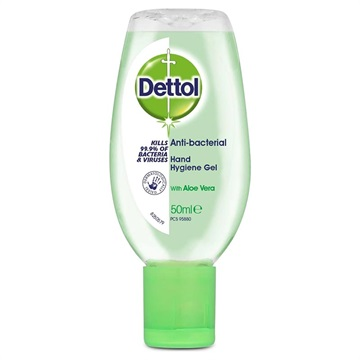 Dettol Antibakteriel Håndrensende Gel - Aloe Vera - 50ml