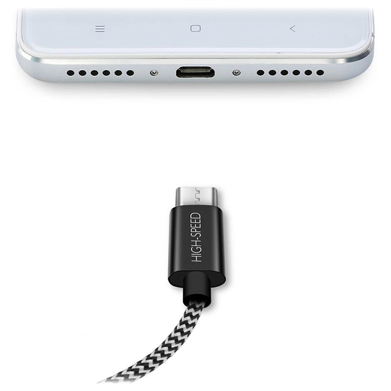 Dux Ducis K-ONE MicroUSB Data Og Ladekabel - 2.1A