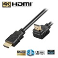 Goobay High Speed HDMI Kabel med Ethernet - 90° Vinklet