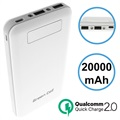 Green Cell PB93 Qualcomm QC 2.0 Power Bank - 20000mAh - Hvid