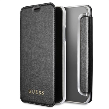 Guess Iridescent iPhone X Designer Flip Cover