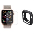 Hat Prince Apple Watch Series 5/4 Full Beskyttelsessæt - 40mm - Sort