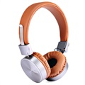 Hoco W2 Foldable Over-ear Hovedtelefoner - 3.5mm - Brun