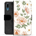 Huawei P20 Premium Flip Cover med Pung - Floral