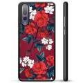 Huawei P20 Pro Beskyttende Cover - Vintage Blomster