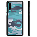 Huawei P30 Beskyttende Cover - Blå Camouflage