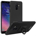 Imak Cowboy Ring Samsung Galaxy A6+ (2018) Cover med Beskyttelsesfilm - Sort
