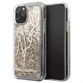 Karl Lagerfeld Signature Liquid Glitter iPhone 11 Pro Max Cover