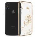 Kingxbar Elegance Series iPhone X Cover - Lotusblomst