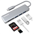 Lenovo C605 Multifunktionel 5-i-1 USB-C Adapter - Grå